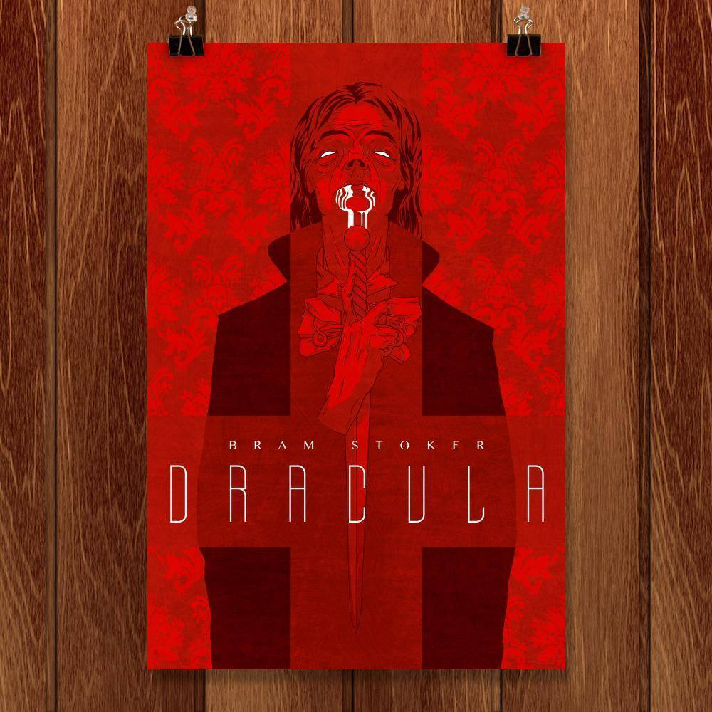"Dracula by George Harbeson 12"" by 18"" Print / Unframed Print Recovering the Classics"