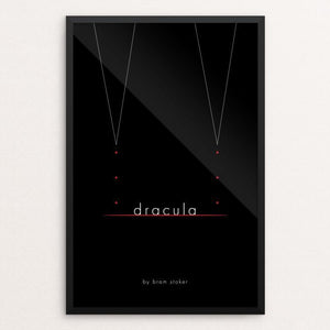 "Dracula by Jon Briggs 12"" by 18"" Print / Framed Print Recovering the Classics"
