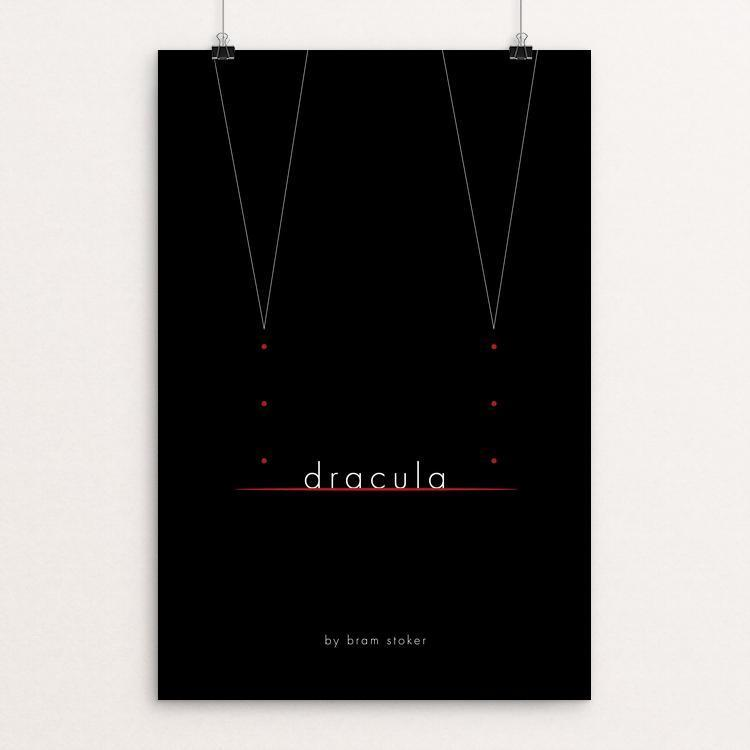 "Dracula by Jon Briggs 12"" by 18"" Print / Unframed Print Recovering the Classics"