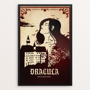 "Dracula by Megan Brady 12"" by 18"" Print / Framed Print Recovering the Classics"