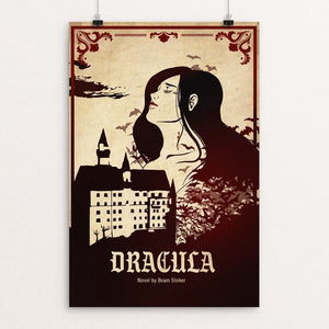 "Dracula by Megan Brady 12"" by 18"" Print / Unframed Print Recovering the Classics"