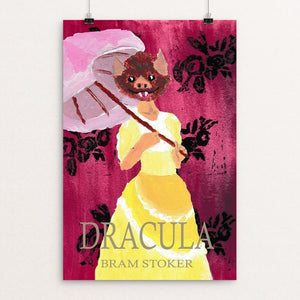 "Dracula by Michelle Holt 12"" by 18"" Print / Unframed Print Recovering the Classics"