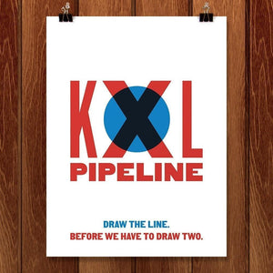 "Draw the Line by Mr. Furious 12"" by 16"" Print / Unframed Print Climate Victory"