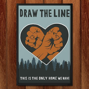 "Draw the Line by Nina Montenegro 12"" by 18"" Print / Unframed Print Climate Victory"