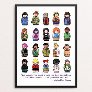 "Dress Like a Woman by Katie McMurry 12"" by 16"" Print / Framed Print Creative Action Network"