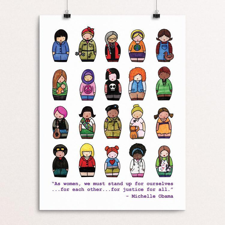 "Dress Like a Woman by Katie McMurry 12"" by 16"" Print / Unframed Print Creative Action Network"