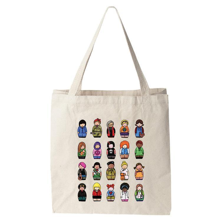 Dress Like a Woman Tote Bag by Katie McMurry Tote Bag Creative Action Network