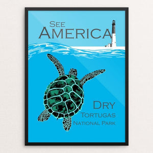 "Dry Tortugas National Park by Candy Medusa 12"" by 16"" Print / Framed Print See America"