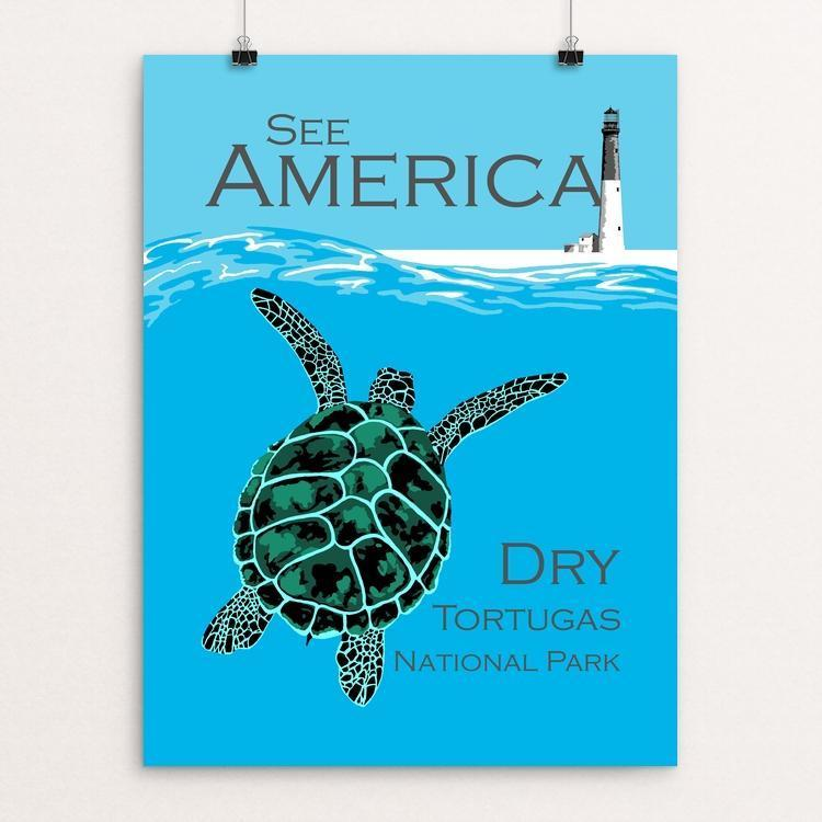 "Dry Tortugas National Park by Candy Medusa 12"" by 16"" Print / Unframed Print See America"