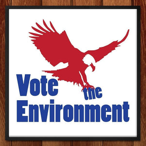 "Eagle Vote by Alicia Carman 12"" by 12"" Print / Framed Print Vote the Environment"
