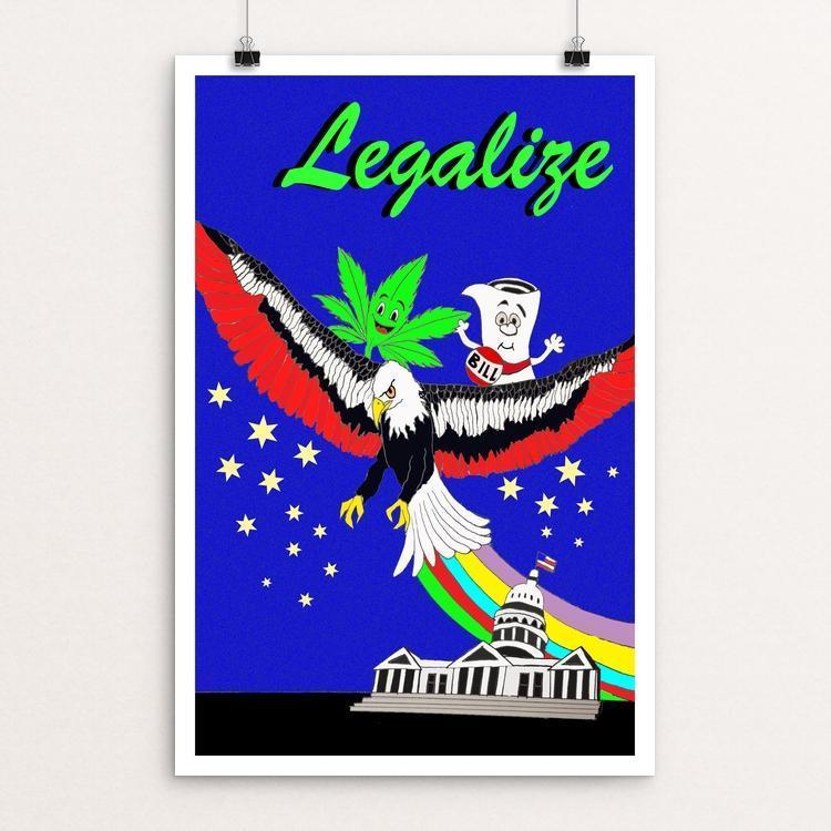 "Eaglization by Joshua Sierra 12"" by 18"" Print / Unframed Print Power to the Poster"