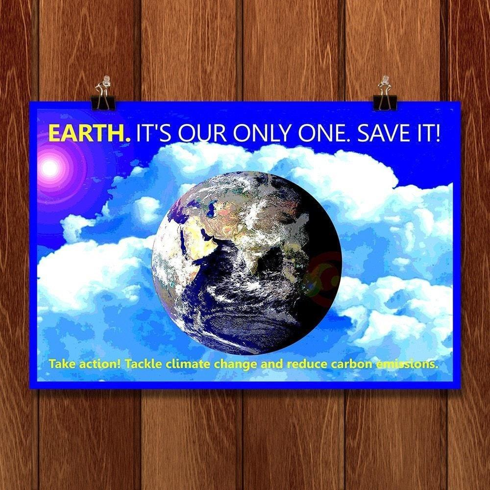 "Earth by Bob Rubin 18"" by 12"" Print / Unframed Print Climate Victory"