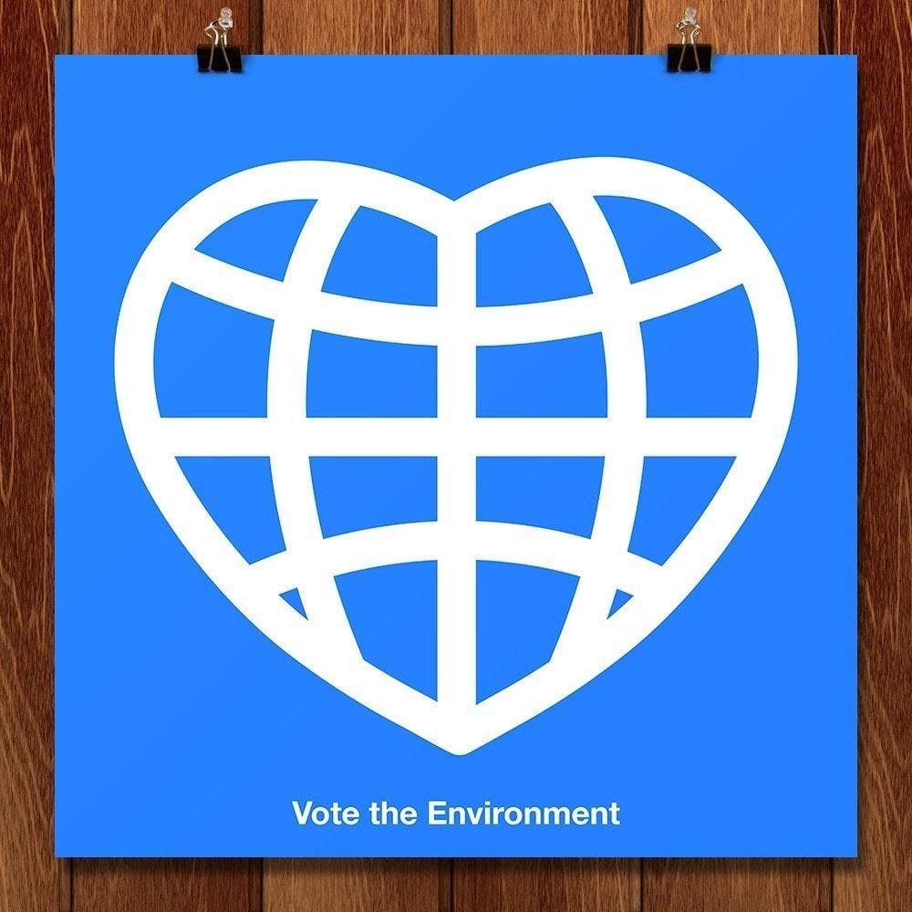 "Earth Love by Christopher Scott 12"" by 12"" Print / Unframed Print Vote the Environment"