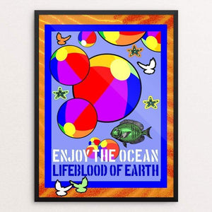 "Earth's Lifeblood by Bob Rubin 18"" by 24"" Print / Framed Print Creative Action Network"