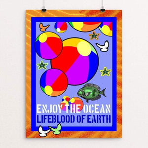 "Earth's Lifeblood by Bob Rubin 18"" by 24"" Print / Unframed Print Creative Action Network"