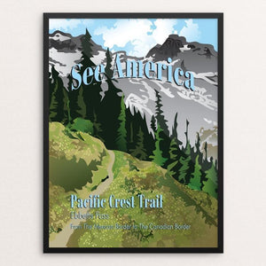 "Ebbetts Pass, Pacific Crest Trail by Lyla Paakkanen 12"" by 16"" Print / Framed Print See America"