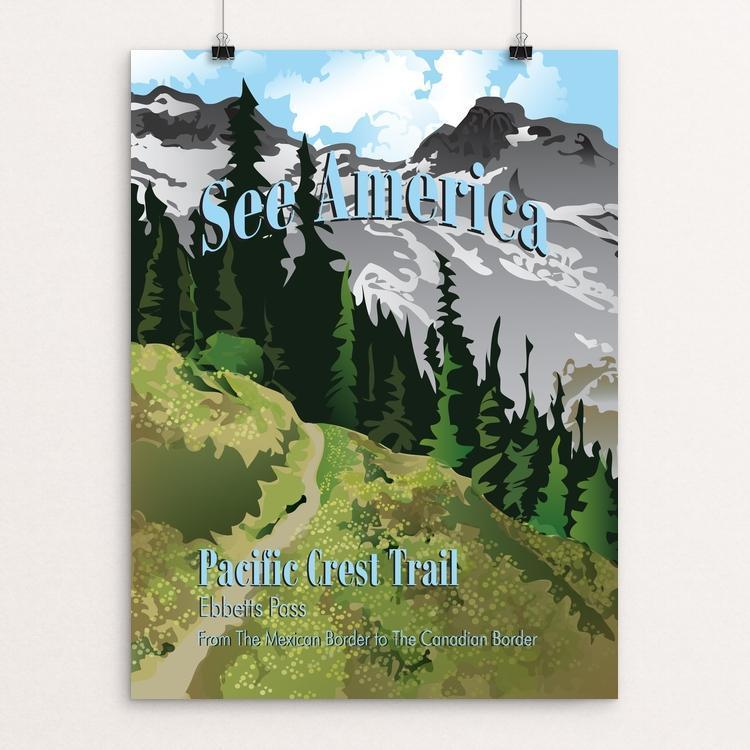 "Ebbetts Pass, Pacific Crest Trail by Lyla Paakkanen 12"" by 16"" Print / Unframed Print See America"