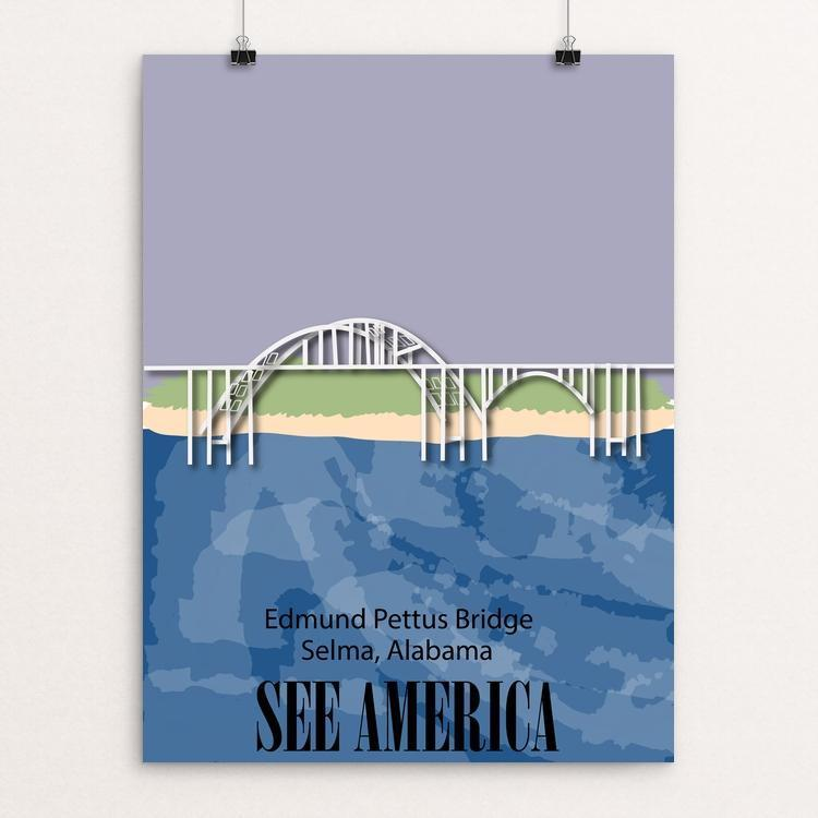"Edmund Pettus Bridge by Antonio Hernandez 18"" by 24"" Print / Unframed Print See America"