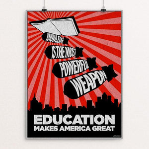 "Education by David Hays 12"" by 16"" Print / Unframed Print What Makes America Great"