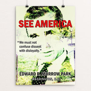 "Edward R. Murrow Park by Bee Joy 12"" by 16"" Print / Unframed Print See America"