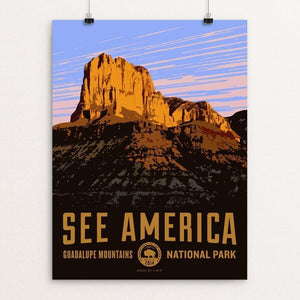 "El Capitan, Guadalupe Mountains National Park by Aaron Bates 12"" by 16"" Print / Unframed Print See America"