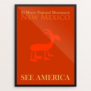 "El Morro National Monument by Bradley 12"" by 16"" Print / Framed Print See America"