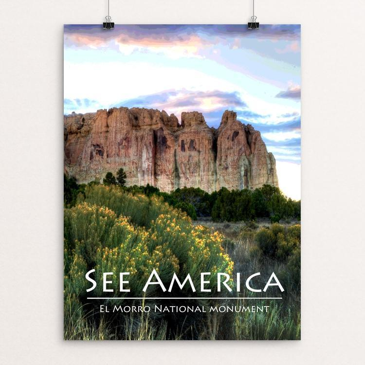 "El Morro National Monument by Teresa Williams 12"" by 16"" Print / Unframed Print See America"