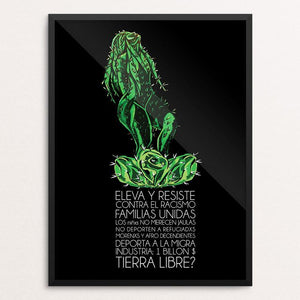 "Eleva y Resiste by Alma Aviña 12"" by 16"" Print / Framed Print Creative Action Network"