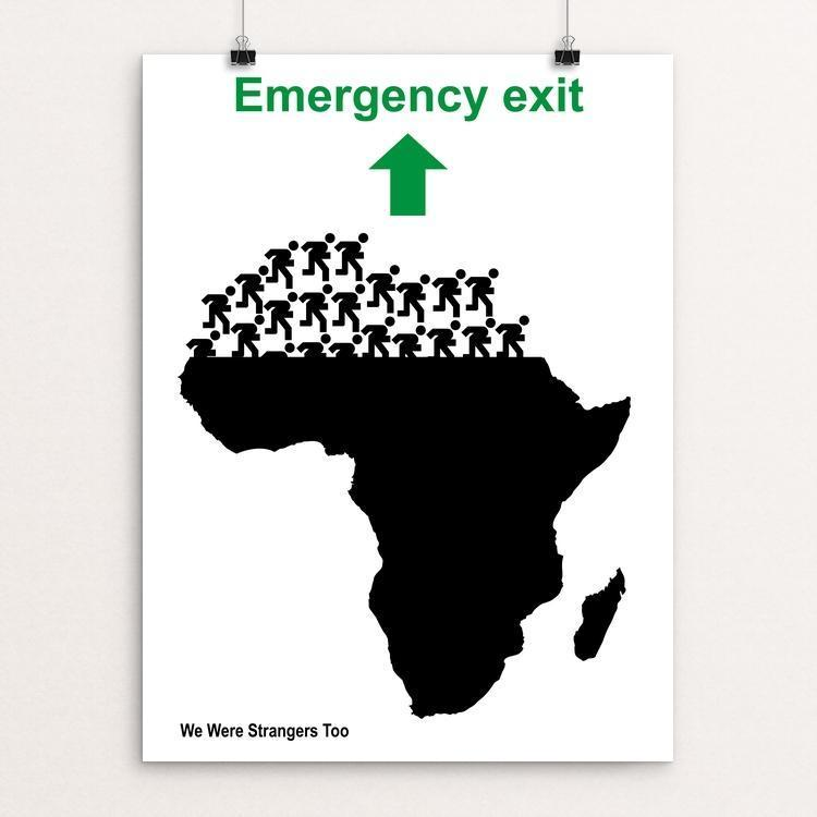 "Emergency exit by Tomaso Marcolla 12"" by 16"" Print / Unframed Print We Were Strangers Too"