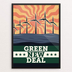 "Energy: Solar, Wind, and Wave by Bradley Abner 18"" by 24"" Print / Framed Print Green New Deal"