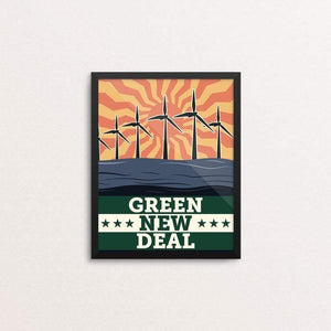 "Energy: Solar, Wind, and Wave by Bradley Abner 8"" by 10"" Print / Framed Print Green New Deal"