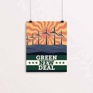 "Energy: Solar, Wind, and Wave by Bradley Abner 8"" by 10"" Print / Unframed Print Green New Deal"