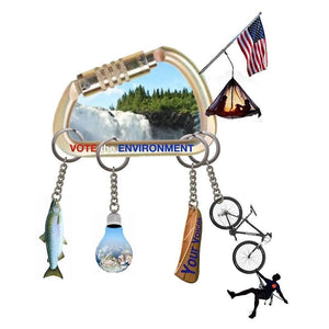 "Environment Keychain by Dacia Hirsch 12"" by 12"" Print / Unframed Print Vote the Environment"