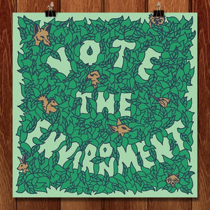 "Environmental Growth by Shane P Bowman 12"" by 12"" Print / Unframed Print Vote the Environment"