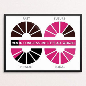 "Equal Means 100% by Maura McLaughlin 18"" by 24"" Print / Framed Print Creative Action Network"