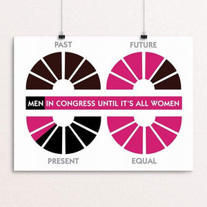 "Equal Means 100% by Maura McLaughlin 18"" by 24"" Print / Unframed Print Creative Action Network"