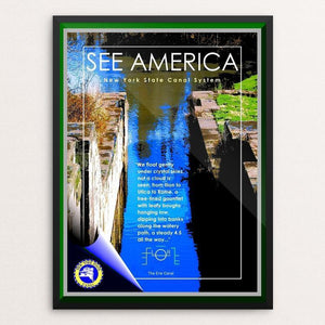 "Erie Canalway National Heritage Corridor by Bob Rubin 12"" by 16"" Print / Framed Print See America"