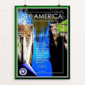 "Erie Canalway National Heritage Corridor by Bob Rubin 12"" by 16"" Print / Unframed Print See America"