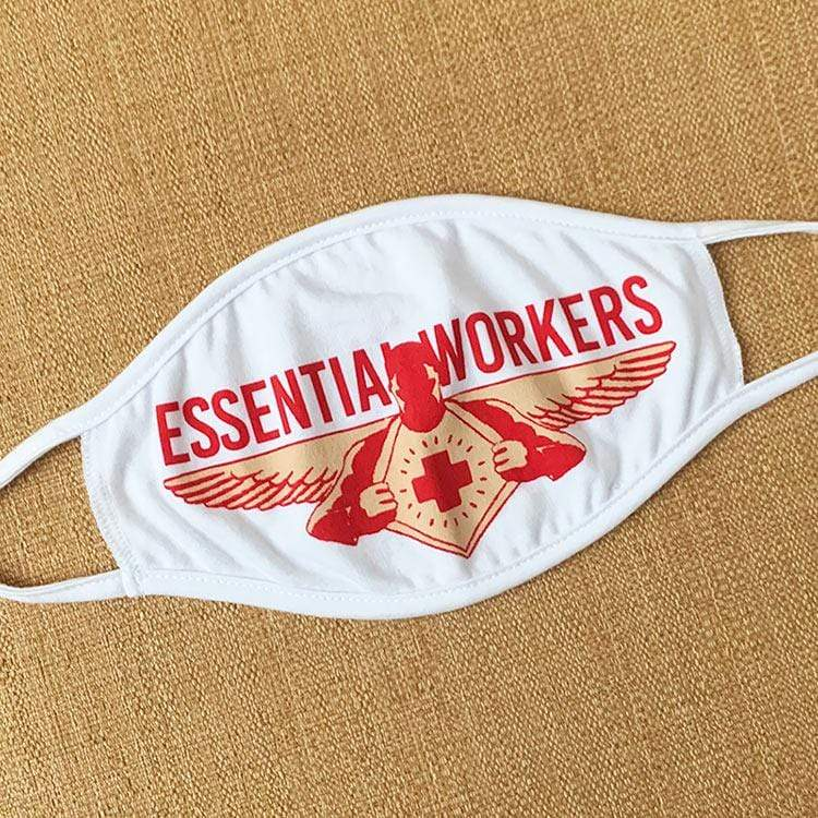 Essential Workers Face Mask by Rocky Casillas Face Mask Creative Action Network