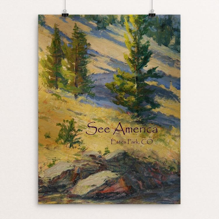 "Estes Park by Janine Hart Manemann 12"" by 16"" Print / Unframed Print See America"