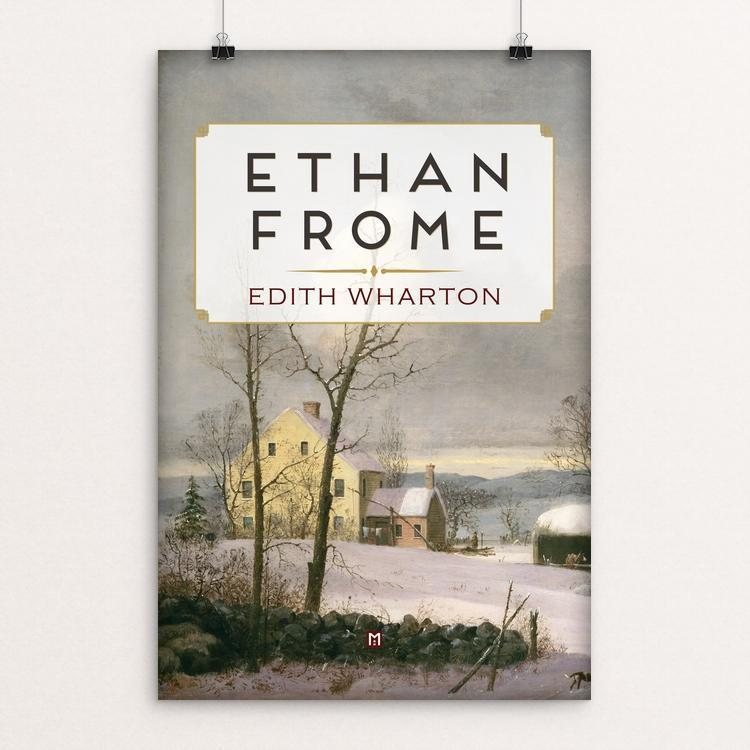 "Ethan Frome by Ed Gaither 12"" by 18"" Print / Unframed Print Recovering the Classics"