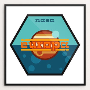 "Europa Mission by Ben Farrow 12"" by 12"" Print / Framed Print Space Horizons"