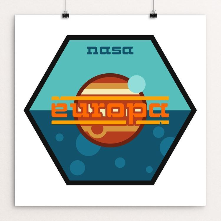 "Europa Mission by Ben Farrow 12"" by 12"" Print / Unframed Print Space Horizons"