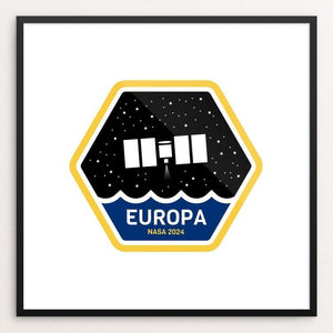 "Europa Mission by Robert Skoff 12"" by 12"" Print / Framed Print Space Horizons"