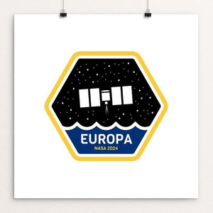 "Europa Mission by Robert Skoff 12"" by 12"" Print / Unframed Print Space Horizons"