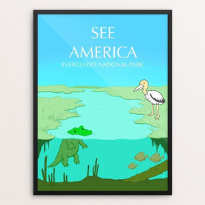"Everglades National Park by Juan Roa 18"" by 24"" Print / Framed Print See America"