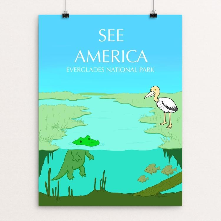 "Everglades National Park by Juan Roa 18"" by 24"" Print / Unframed Print See America"
