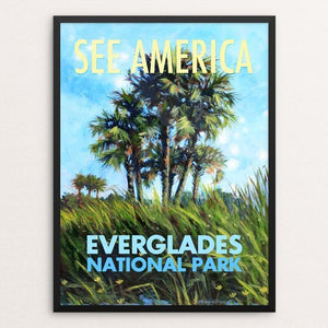 "Everglades National Park by Megan Kissinger 12"" by 16"" Print / Framed Print See America"