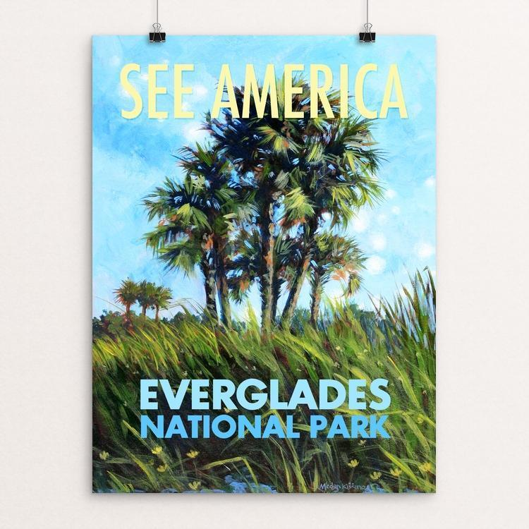 "Everglades National Park by Megan Kissinger 12"" by 16"" Print / Unframed Print See America"