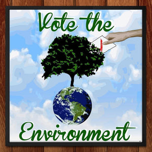 "Every Vote Counts by Paige 12"" by 12"" Print / Framed Print Vote the Environment"